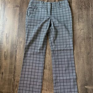 Black and grey checkered flare pants